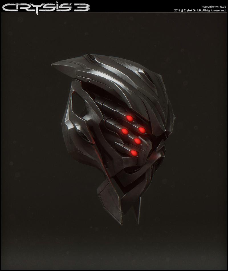 character � crysis 3 � nanosuit mp amp alien helmet � manuel